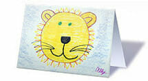 Customized note cards from your kid's artwork