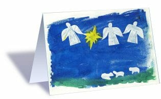 Holiday cards with your child's artwork